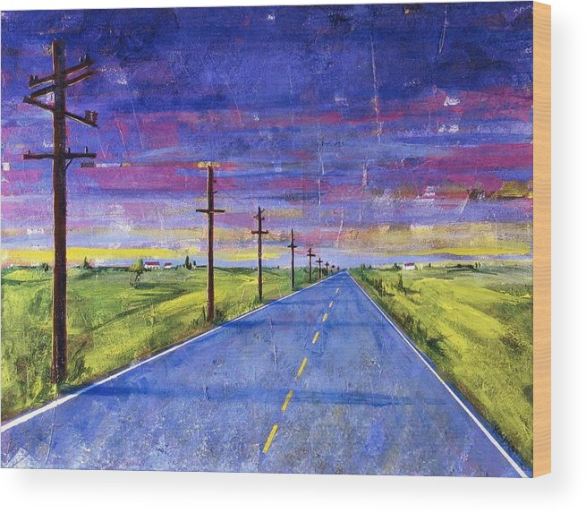 Road Wood Print featuring the painting To Be With You by Rollin Kocsis