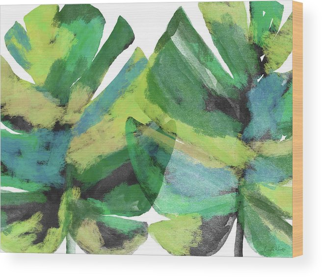 Tropical Wood Print featuring the mixed media Tropical Dreams 1- Art by Linda Woods by Linda Woods