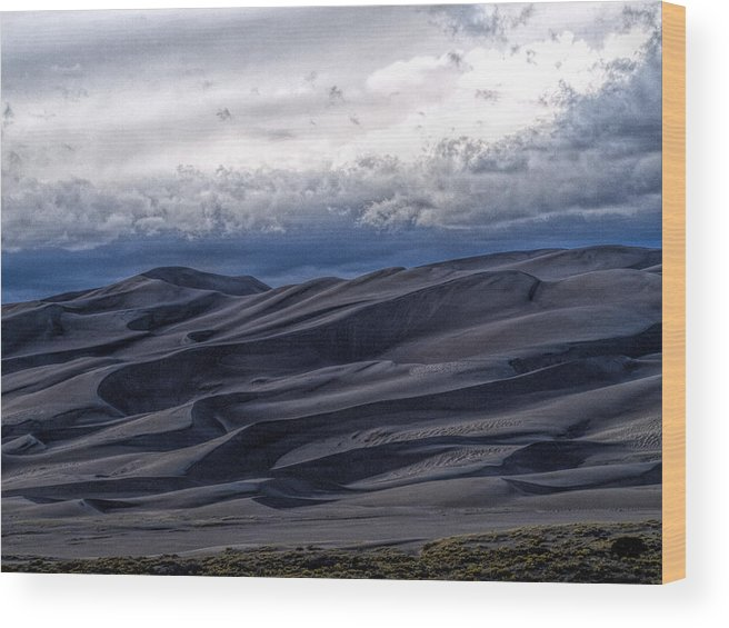 Great Sand Dunes National Park Wood Print featuring the photograph Velvet at Night by Alana Thrower