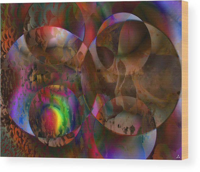 Colors Wood Print featuring the digital art Vision 24 by Jacques Raffin