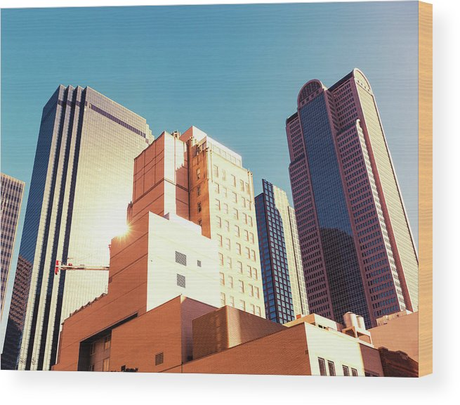 Financial Building Wood Print featuring the photograph Architecture, Dallas Financial District by Moreiso