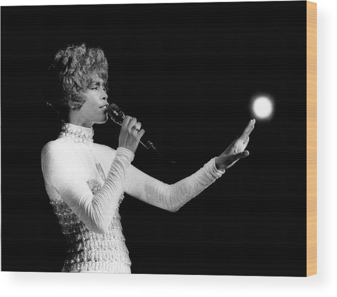 Whitney Houston Wood Print featuring the photograph Whitney Houston Live In Concert by Raymond Boyd