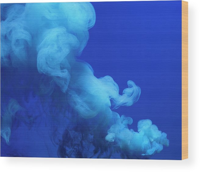 Motion Wood Print featuring the photograph Colored Smoke by Henrik Sorensen