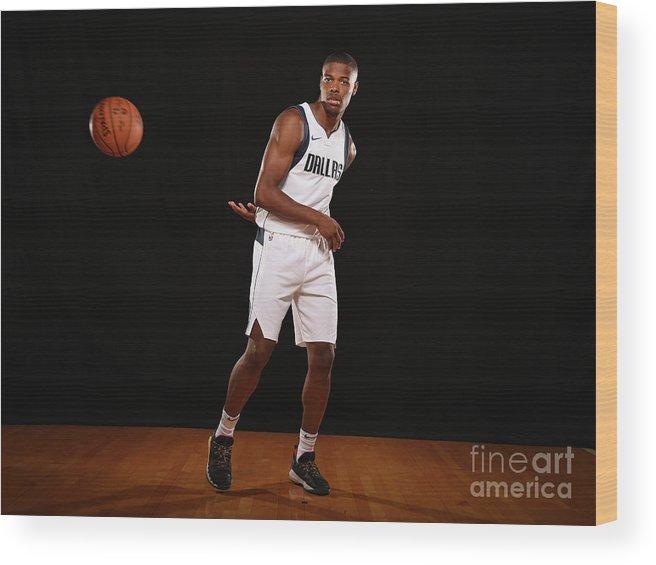 Nba Pro Basketball Wood Print featuring the photograph 2017 Nba Rookie Photo Shoot by Brian Babineau