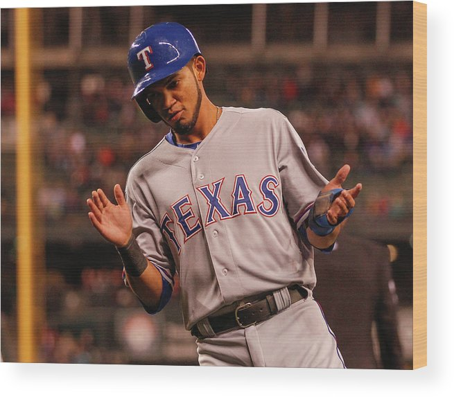 Ninth Inning Wood Print featuring the photograph Texas Rangers V Seattle Mariners by Otto Greule Jr