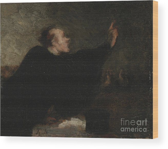 Lawyer Wood Print featuring the drawing A Trial Lawyer, 1853-1854 by Heritage Images
