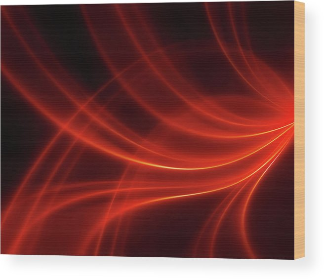 Three Dimensional Wood Print featuring the photograph Abstract Red Dynamic Lines Backgrounds by Hh5800