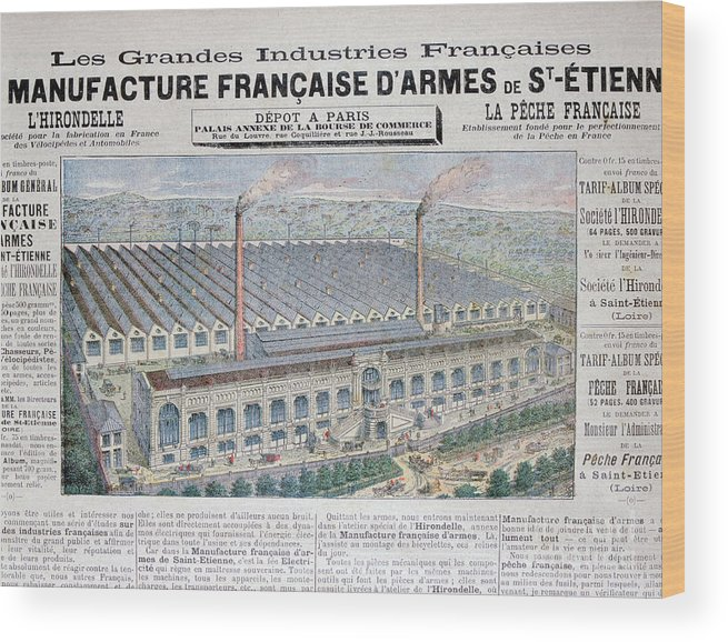 Loire Valley Wood Print featuring the drawing Arms Manufacturing Industry, St by Print Collector