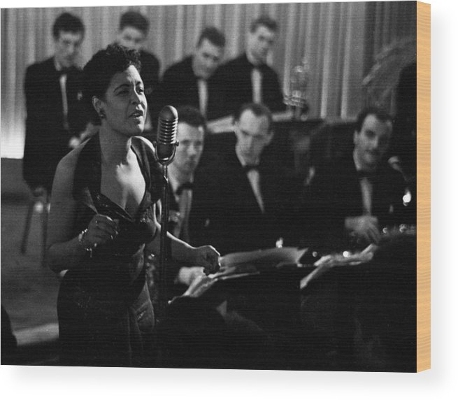Singer Wood Print featuring the photograph Billie Holiday by Charles Hewitt
