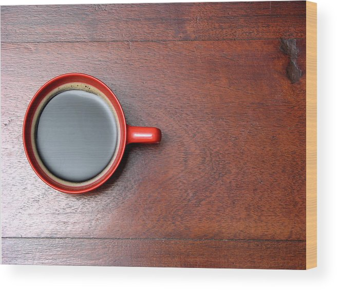 Motivation Wood Print featuring the photograph Coffee Chill Out by Fotografiabasica