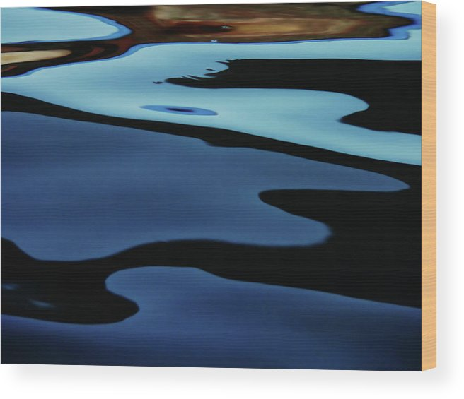 Scenics Wood Print featuring the photograph Colorful Water Background Abstract by Lubilub