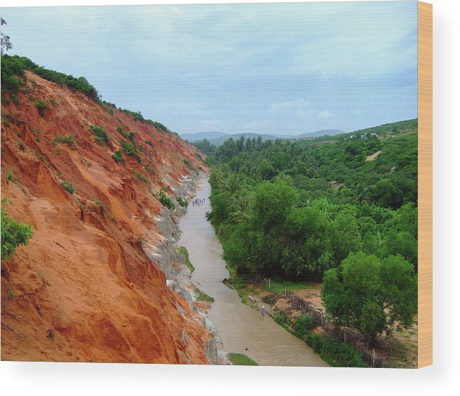 Tranquility Wood Print featuring the photograph Fairy Springs In Mui Ne by Thomas Davis