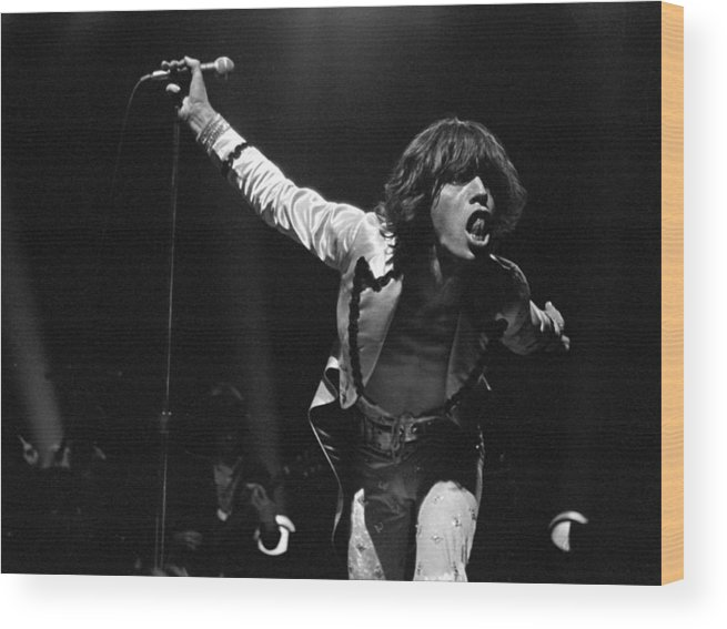 Mick Jagger Wood Print featuring the photograph Jaggers Tongue by Graham Wiltshire