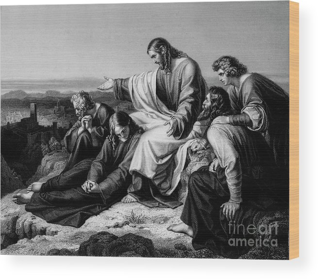 Engraving Wood Print featuring the drawing Jerusalem Hath Grievously Sinned by Print Collector