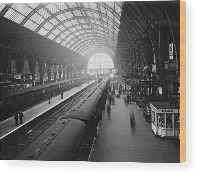 Passenger Train Wood Print featuring the photograph Kings Cross Station by Macgregor