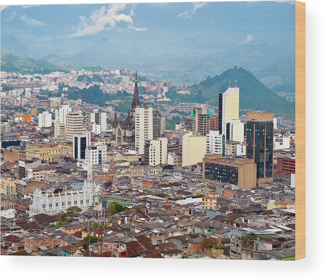 Built Structure Wood Print featuring the photograph Manizales City View, Colombia by Holgs