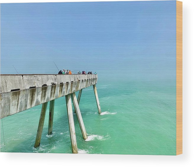 Pier Wood Print featuring the photograph Pacifica Pier 1 by Julie Gebhardt