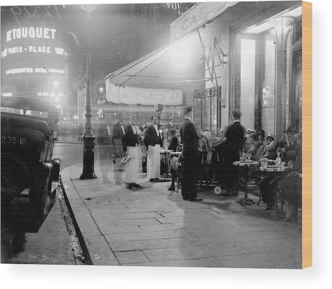 Paris Wood Print featuring the photograph Paris Cafe by Fox Photos