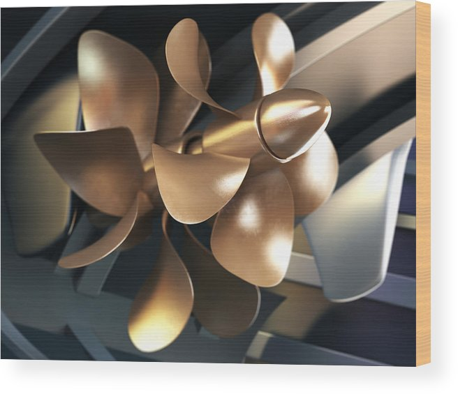 Engine Wood Print featuring the photograph Ship Propeller by Adventtr
