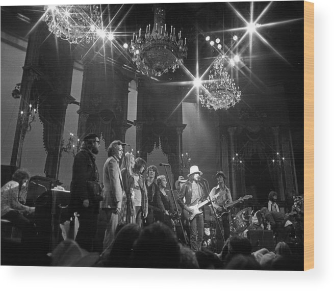 San Francisco Wood Print featuring the photograph The Last Waltz Concert by Michael Ochs Archives