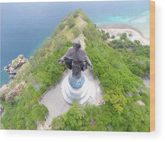 Travel Wood Print featuring the photograph Cristo Rei of Dili statue of Jesus by Brthrjhn2099