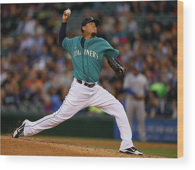 People Wood Print featuring the photograph Felix Hernandez by Otto Greule Jr