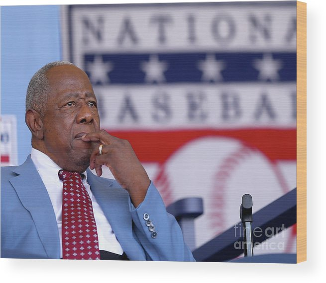 People Wood Print featuring the photograph Hank Aaron by Elsa
