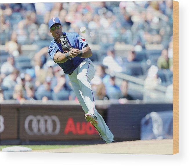 Adrian Beltre Wood Print featuring the photograph John Ryan by Elsa