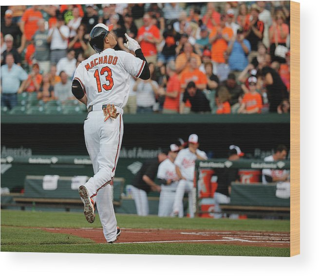 People Wood Print featuring the photograph Manny Machado by Rob Carr