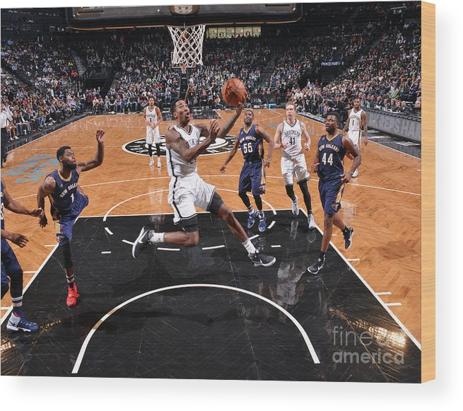 Nba Pro Basketball Wood Print featuring the photograph Rondae Hollis-jefferson by Jesse D. Garrabrant