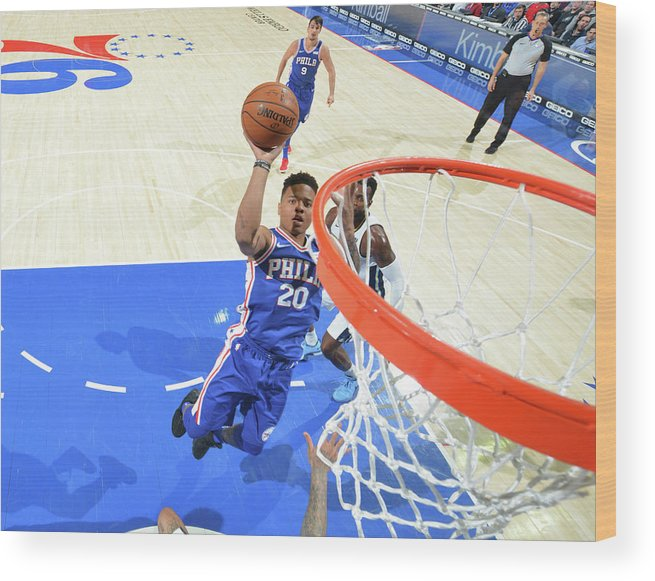 Sports Ball Wood Print featuring the photograph Markelle Fultz by Jesse D. Garrabrant