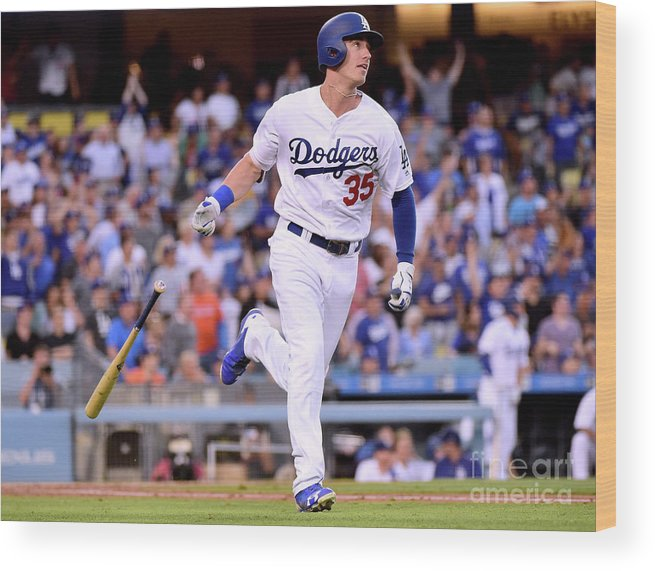 Second Inning Wood Print featuring the photograph Cody Bellinger by Harry How