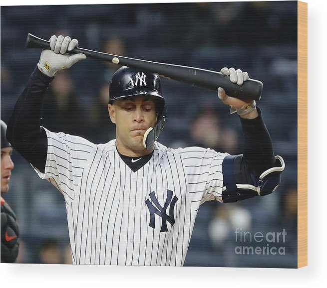 People Wood Print featuring the photograph Giancarlo Stanton by Elsa