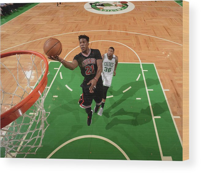 Playoffs Wood Print featuring the photograph Jimmy Butler by Brian Babineau