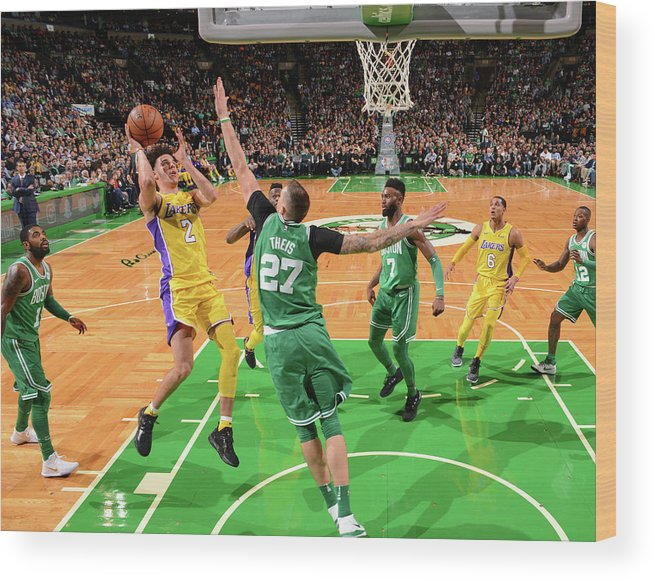 Nba Pro Basketball Wood Print featuring the photograph Lonzo Ball by Jesse D. Garrabrant