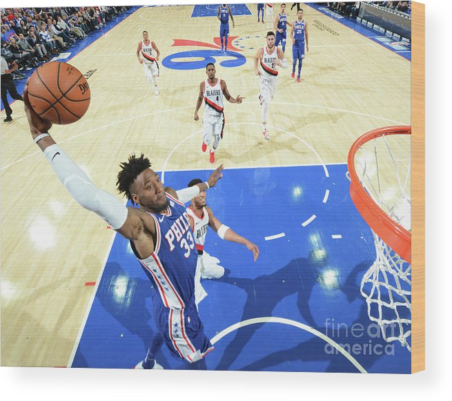 Nba Pro Basketball Wood Print featuring the photograph Robert Covington by Jesse D. Garrabrant