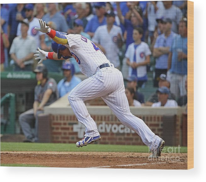 People Wood Print featuring the photograph Willson Contreras by Jonathan Daniel