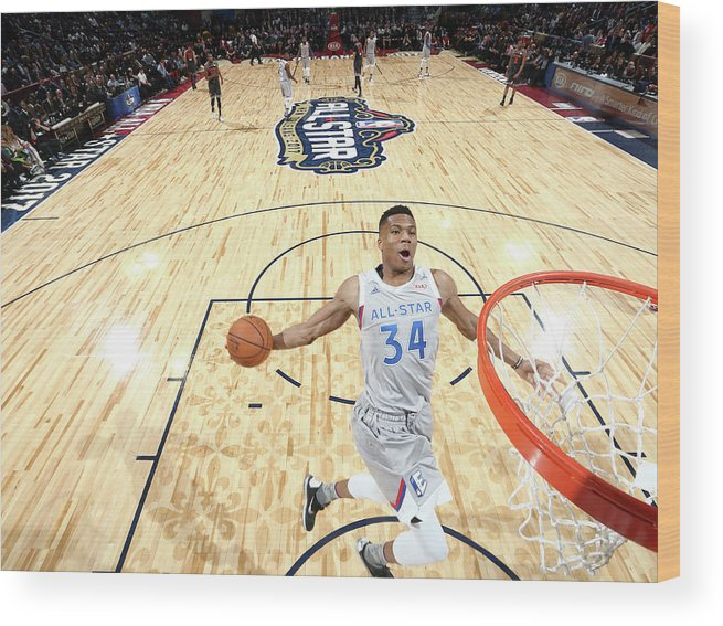 Event Wood Print featuring the photograph Giannis Antetokounmpo by Nathaniel S. Butler
