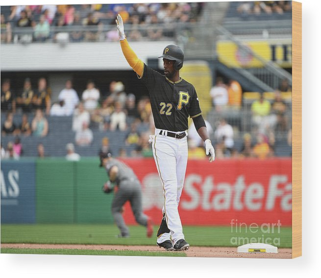 People Wood Print featuring the photograph Andrew Mccutchen by Justin Berl