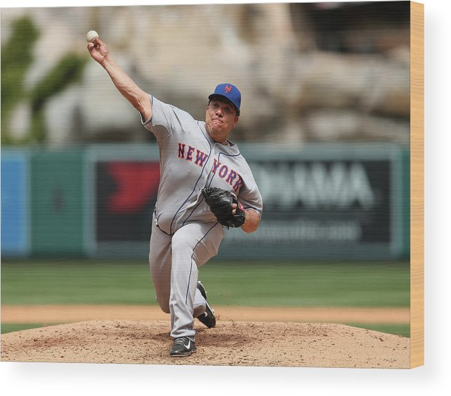 People Wood Print featuring the photograph Bartolo Colon by Stephen Dunn