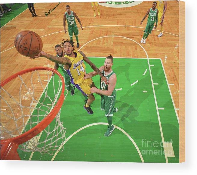 Nba Pro Basketball Wood Print featuring the photograph Brandon Ingram by Jesse D. Garrabrant