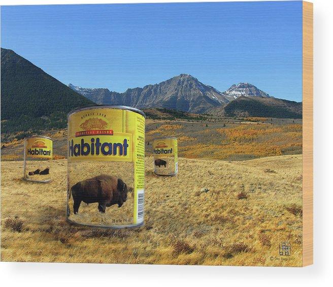 Digital Art Wood Print featuring the digital art Buffalo Soup by Otto Rapp