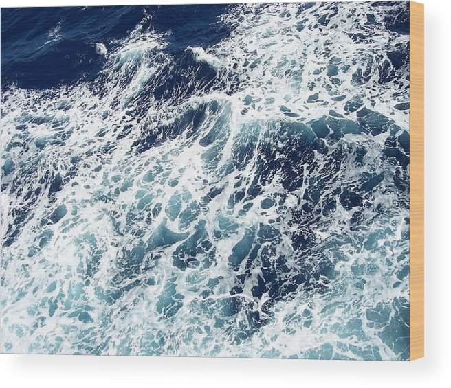 Waves Wood Print featuring the photograph Caribbean Waves by Michelle Miron-Rebbe