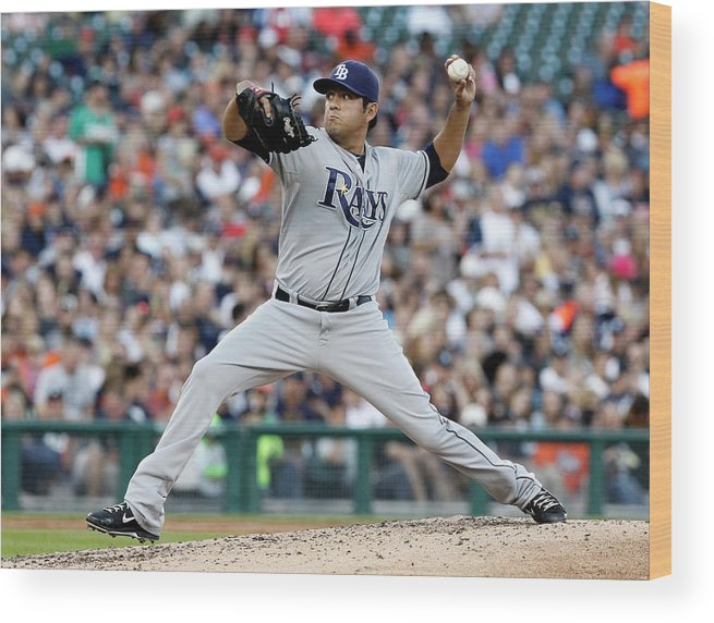 American League Baseball Wood Print featuring the photograph Cesar Ramos by Duane Burleson
