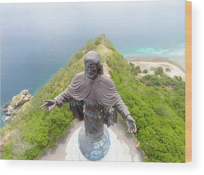 Adventure Wood Print featuring the photograph Cristo Rei of Dili statue of Jesus by Brthrjhn2099