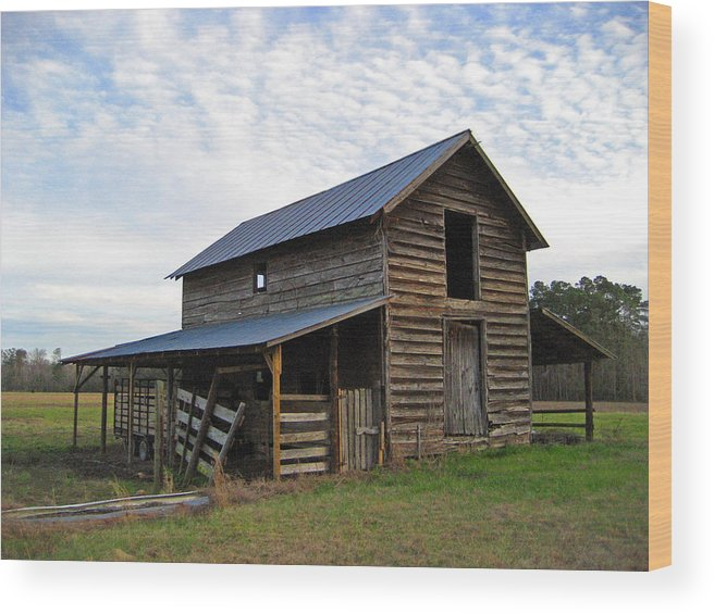 Barn Wood Print featuring the photograph Days Gone By by Suzanne Gaff