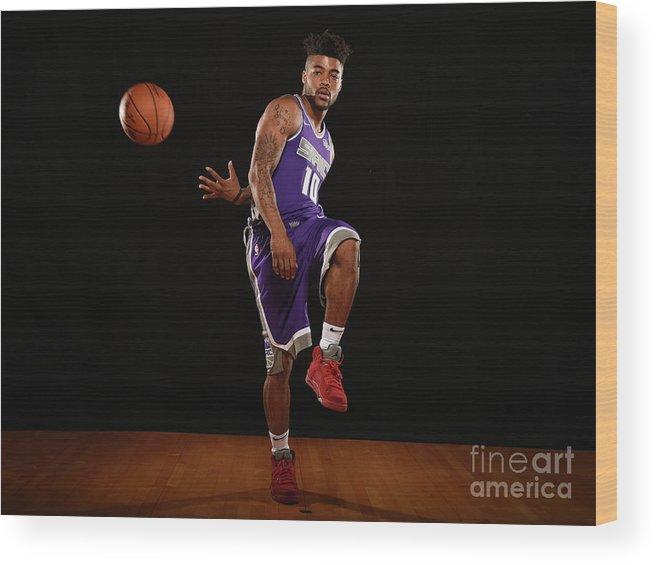 Nba Pro Basketball Wood Print featuring the photograph Frank Mason by Brian Babineau