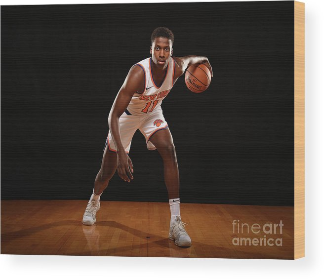 Nba Pro Basketball Wood Print featuring the photograph Frank Ntilikina by Brian Babineau