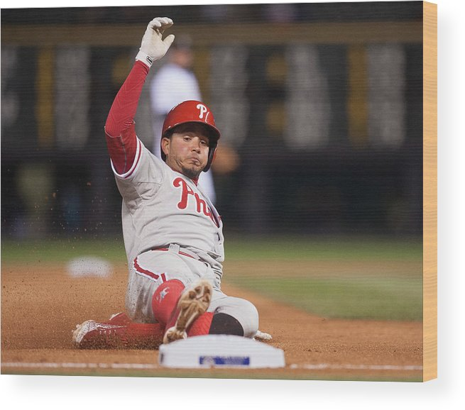 People Wood Print featuring the photograph Freddy Galvis by Dustin Bradford