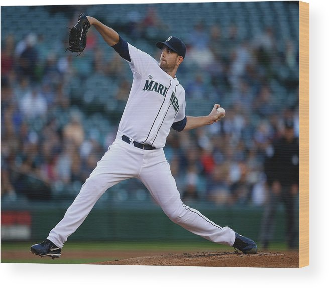 American League Baseball Wood Print featuring the photograph James Paxton by Otto Greule Jr